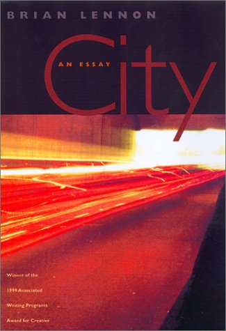 Book cover of City: An Essay