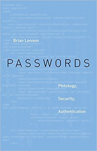 Book cover of Passwords: Philology, Security, Authentication
